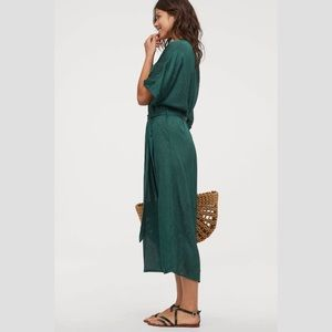 H&M Kaftan Dress, Dark Green